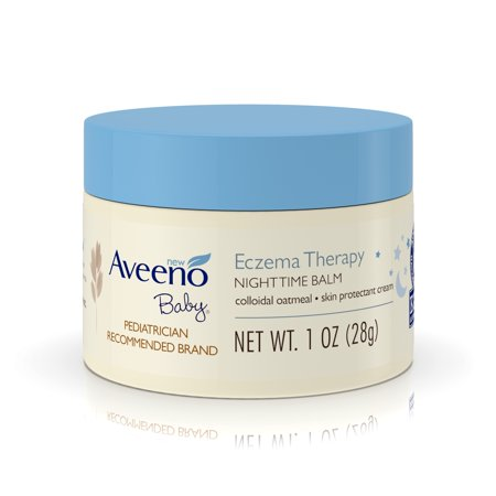 (2 Pack) Aveeno Baby Eczema Therapy Nighttime Balm with Natural Oatmeal, 1