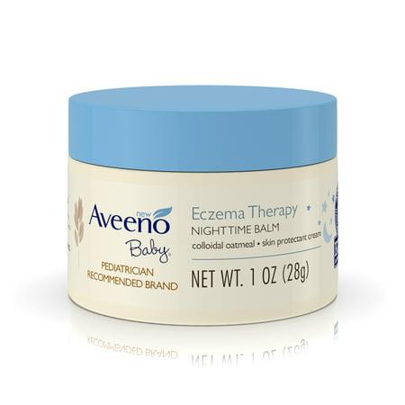 (2 Pack) Aveeno Baby Eczema Therapy Nighttime Balm with Natural Oatmeal, 1 (California Baby Eczema Cream)