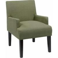 Work Smart Main Street Guest Reception Waiting Room Chair, Espresso