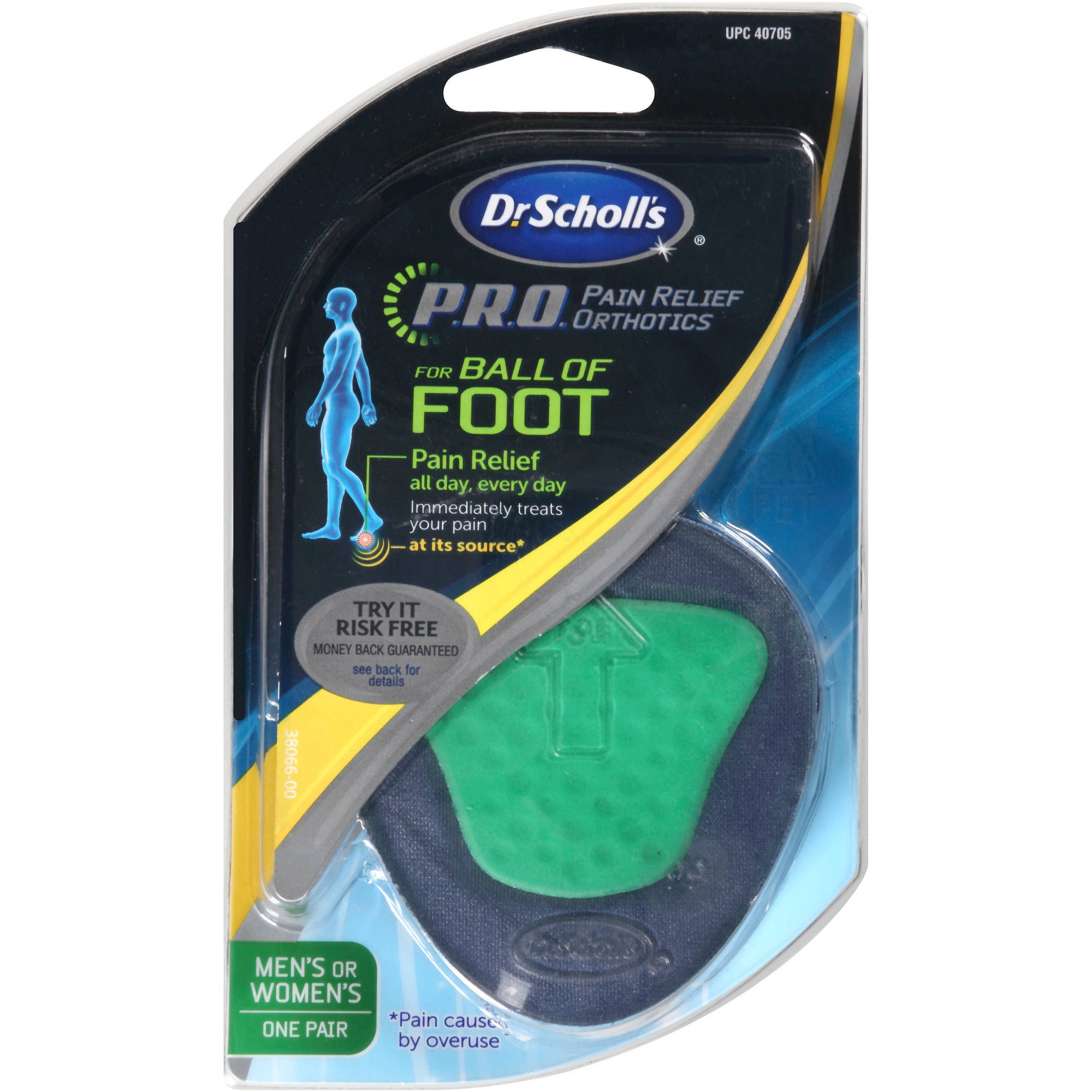 Dr. Scholl's P.R.O. Pain Relief Orthotics for Ball of Foot, 1 pair