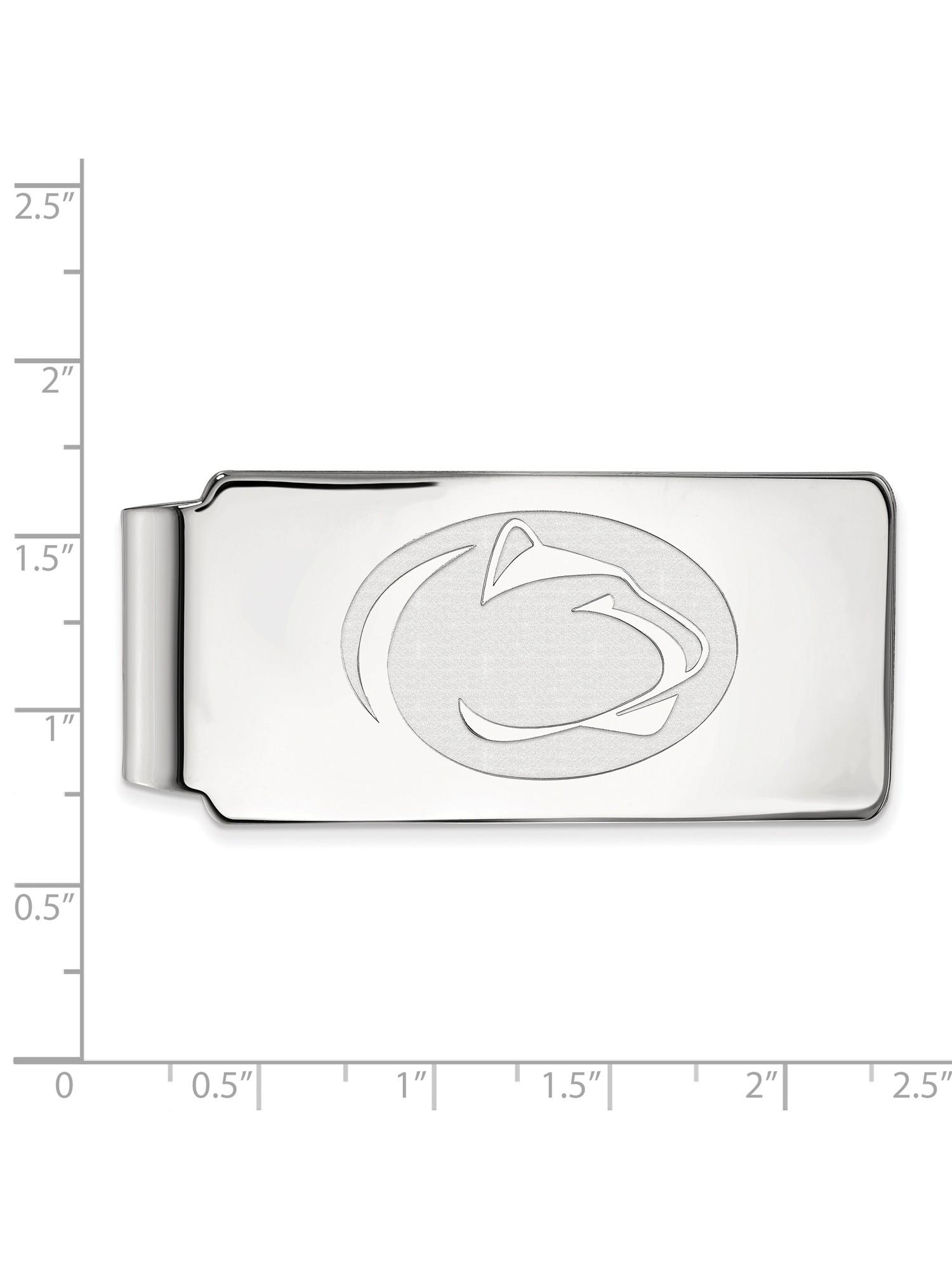 Penn State University Money Clip In Sterling Silver