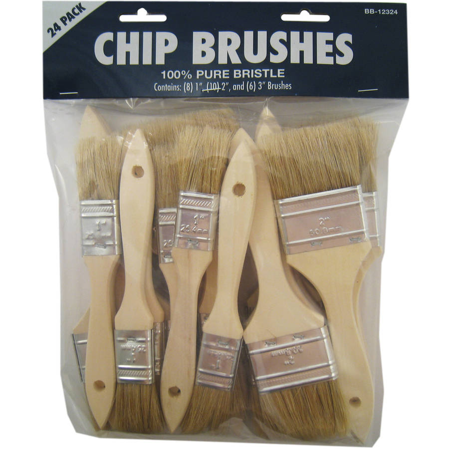Gam BB12324 Chip Paint Brushes Assorted 24 Count by Great American Marketing