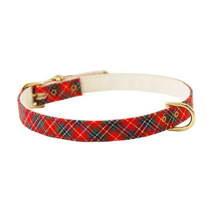 "Pet Supply Imports 428 Plaid Scotch Adjustable Fancy Dog Collar 3/8"" Width"