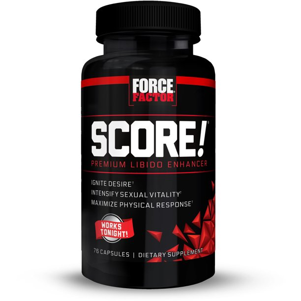 SCORE! Nitric Oxide Natural Libido Enhancer for Men with Horny Goat Weed  and L-Citrulline to Ignite Libido, Maximize Response, Increase Endurance,  and Boost Male Vitality, Force Factor, 76 Capsules - Walmart.com -