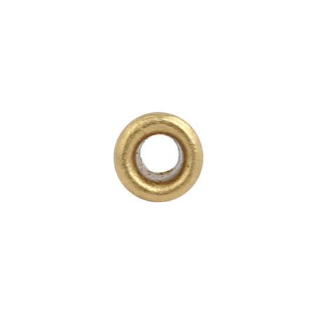100pcs M2.5 x 2.5mm Brass Plated Metal Hollow Eyelets Rivets Gold Tone - image 2 de 3