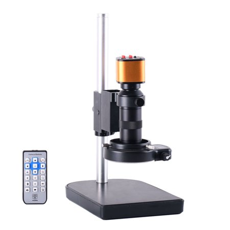 16MP Electronic Video Stereo Digital USB Industrial Microscope Camera 150X C-mount Lens Stand for PCB THT