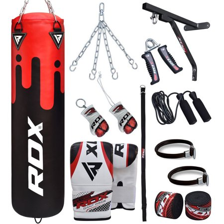 RDX Punching Bag 5Ft Heavy Kit Punch Boxing Chains Set Hanger Gloves Filled Kick MMA