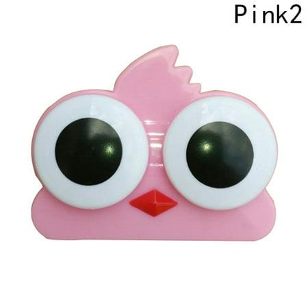 KABOER 3D Big Eyes Contact Lenses Box Case Owl Frog Shape Contact lens Case
