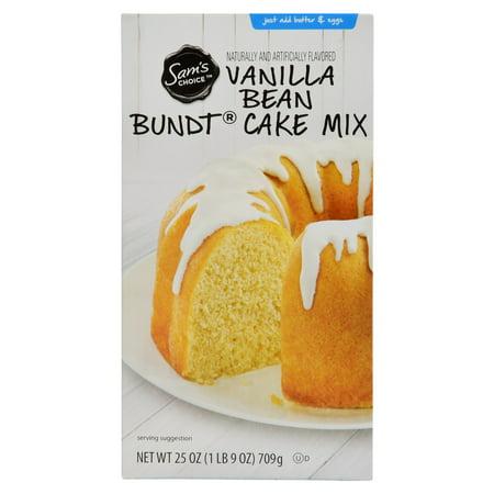 (4 Pack) Sam's Choice Vanilla Bean Bundt Cake Mix, 25 oz
