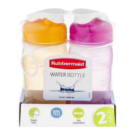 Rubbermaid 14 Ounce Water Bottle, 2 Count