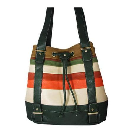 Aryana Ashlyn3grn Green Handbag With Top Zip Closure