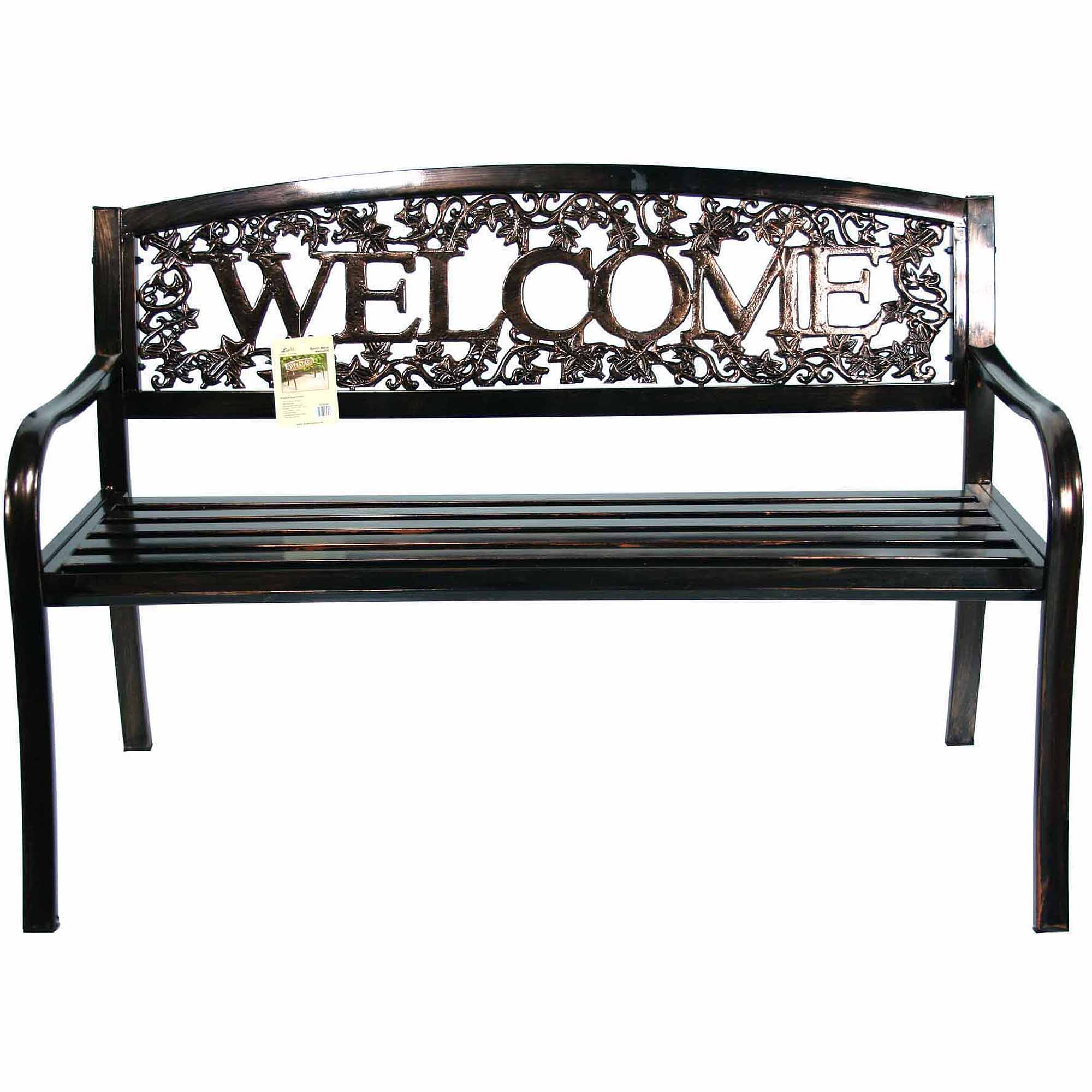 United General Supply Co Metal Welcome Bench