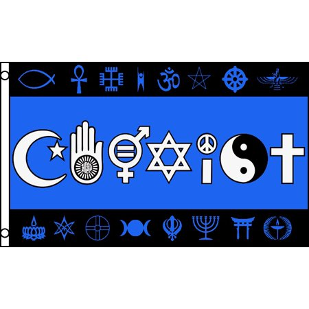 Coexist Flag World Peace Love Human Rights Banner Religion Pennant Harmony 3x5 - World Flag