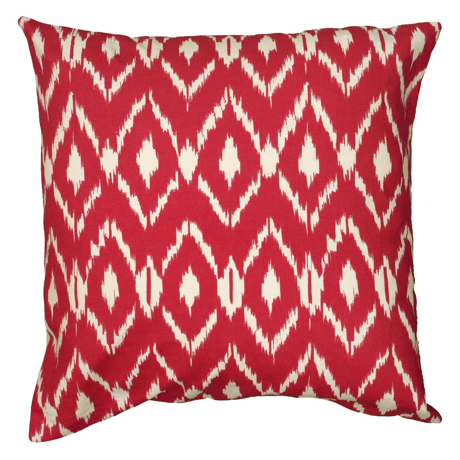 "Rizzy Home Fractured Ikat Cotton Decorative Throw Pillow, 18"" x 18"", Navy Blue"