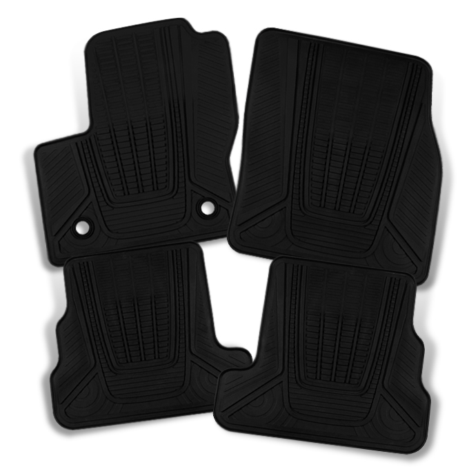 Fit 13-17 Ford Escape SUV Heavy Duty Tray Style Black 4pcs Floor mat Front +Rear