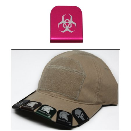Ultimate Arms Gear Malware Toxic Hazard Symbol Hat Cap Crown Brim It  Pink