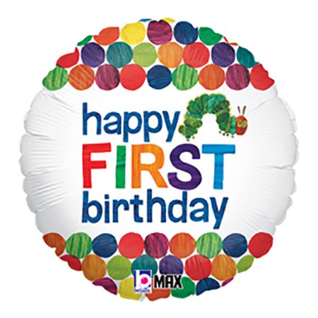 The Very Hungry Caterpillar 1st Birthday Mylar Balloon for $<!---->