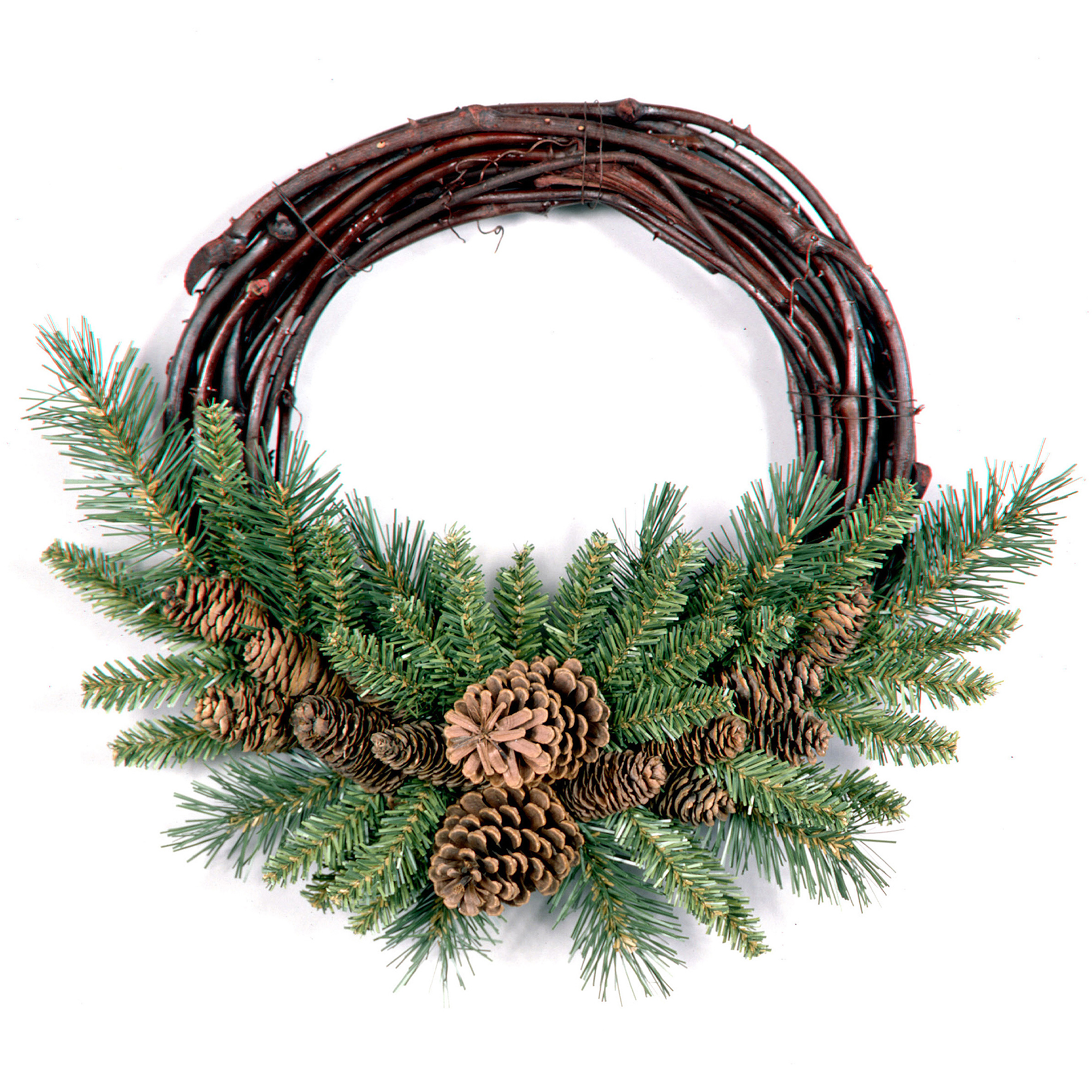 "National Tree 16"" Pine Cone Grapevine Wreath"