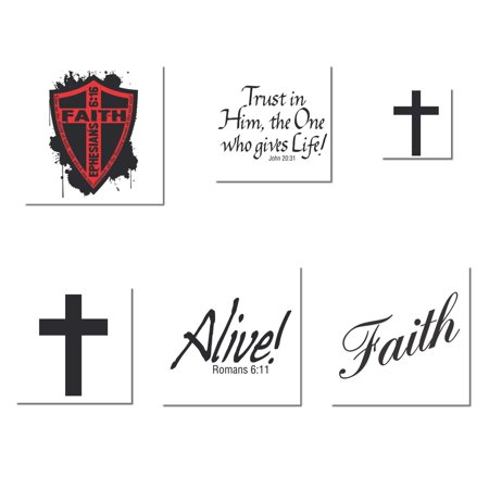 Religious Adult Pack of Temporary Tattoos - Walmart.com