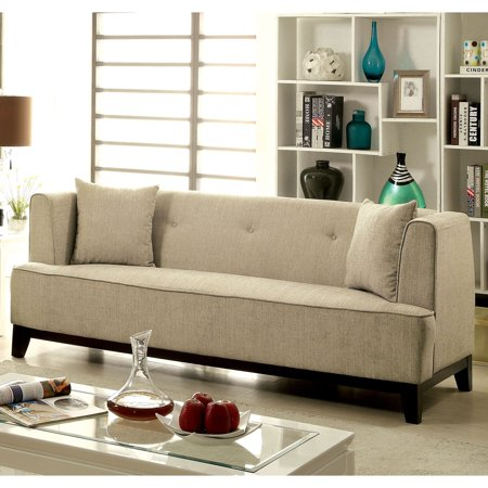 Excellent Furniture Of America Esmone Modern Tuxedo Linen Sofa Gmtry Best Dining Table And Chair Ideas Images Gmtryco