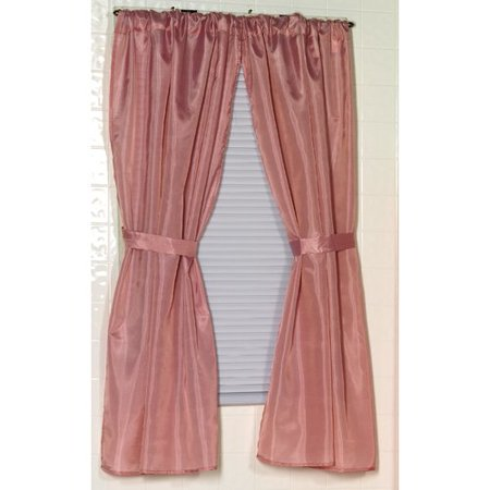 Polyester Fabric Window Curtain in Rose ()