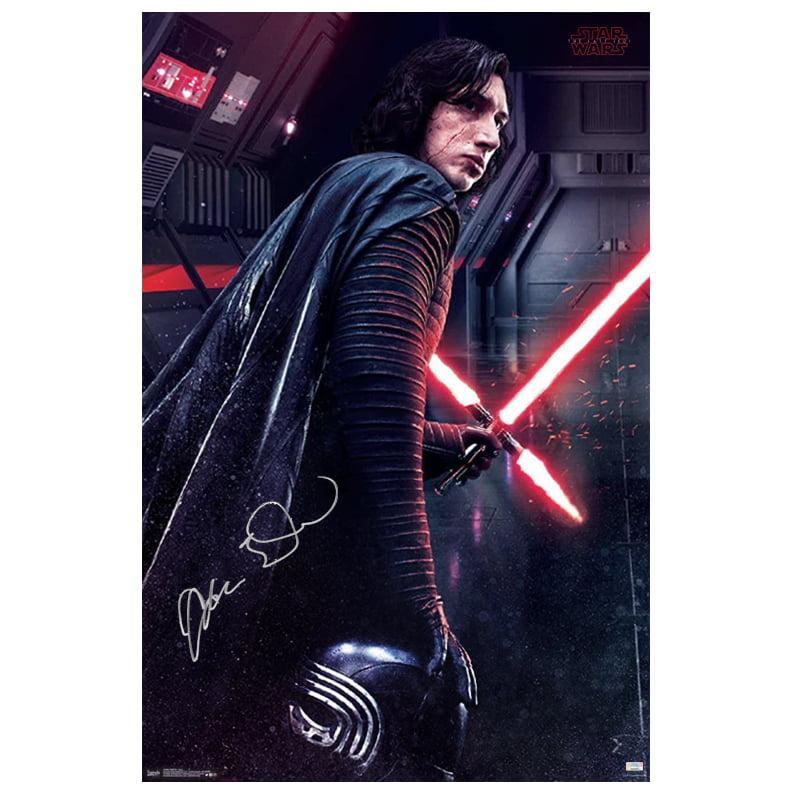 Adam Driver Autographed Star Wars: The Last Jedi Kylo Ren Path of Darkness 22.5x34 Poster