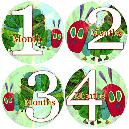 Baby Month Onesie HUNGRY CATERPILLAR, Stickers Baby Shower Gift - NEW