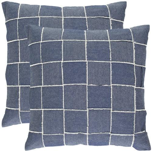 Leonardo Denim Blue Decorative Pillow - Set of 2