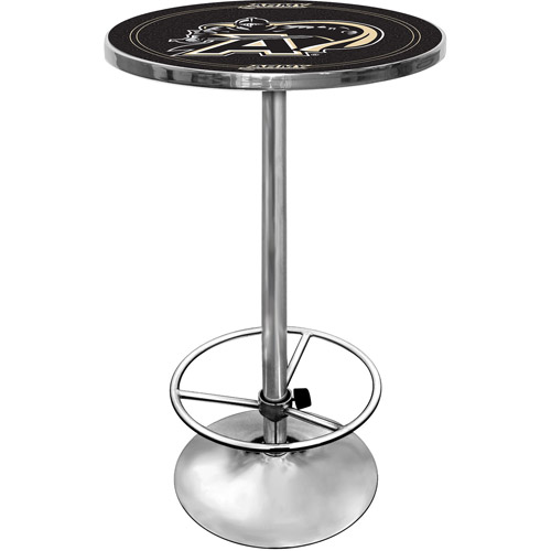 "Trademark Army Black Knights 42"" Pub Table, Chrome"
