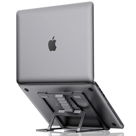 ELV Adjustable Laptop Stand, Compatible with Apple Mac MacBook Pro/Air 10 to 15.6 Inch Notebook, Antislip Anti-Scratch Aluminum Ventilated Portable Ergonomic Desktop Holder Riser for Office Desk