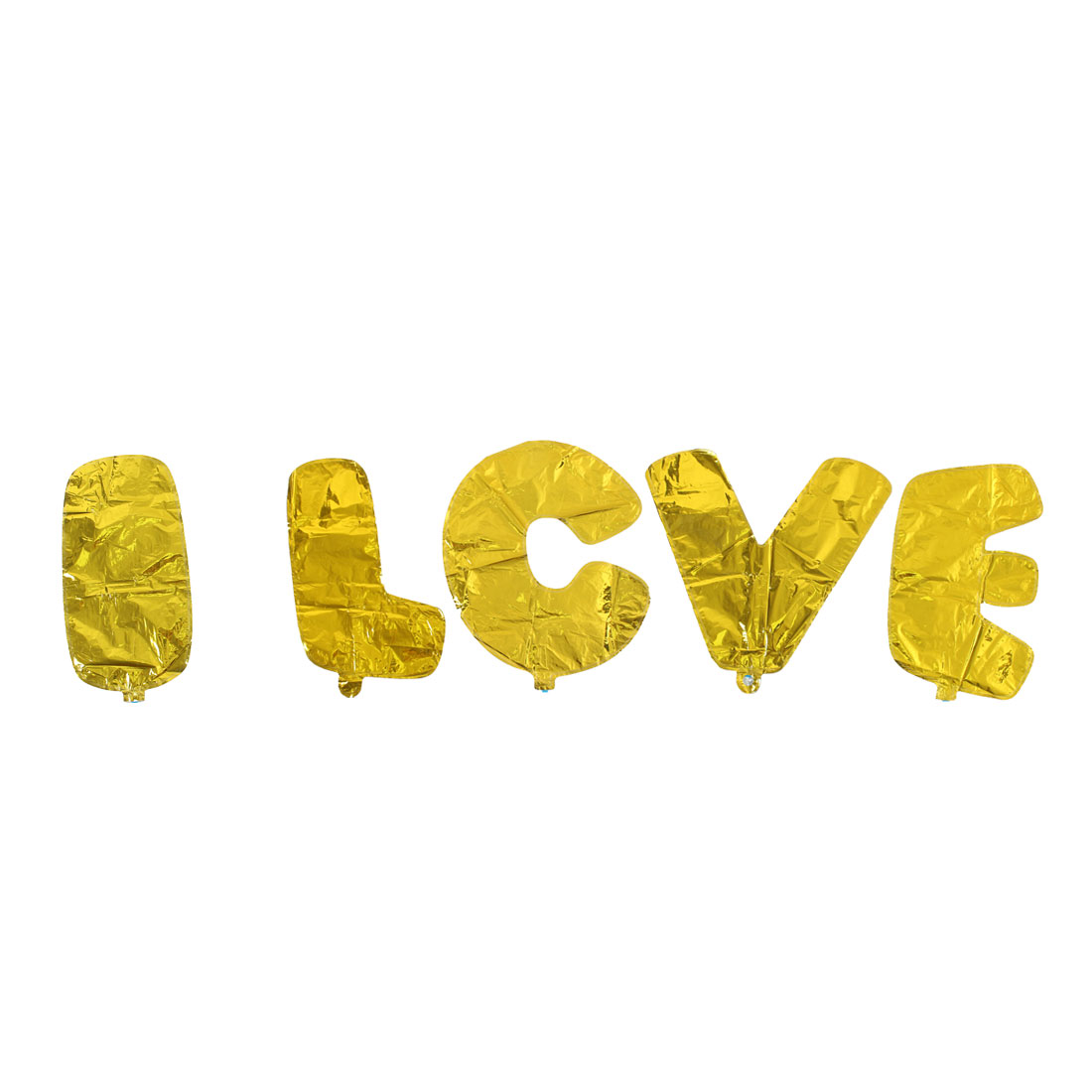 Foil I LOVE YOU Balloon Wedding Party Celebration Decor Gold Tone 8 in 1 - image 2 of 4