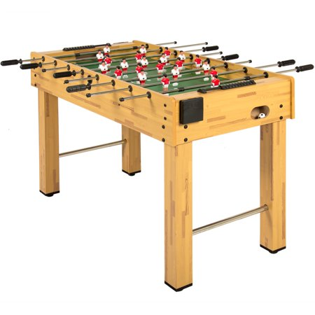 Best Choice Products 48in Competition Sized Wooden Soccer Foosball Table w/ 2 Balls, 2 Cup Holders for Home, Game Room, Arcade - Natural ()