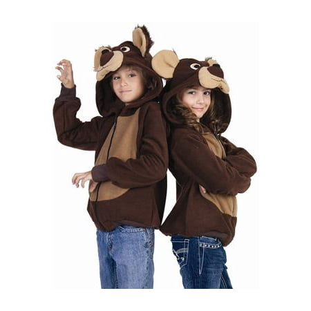 Childrens Bear Costume (Kids Bailey the Bear Funsie Hoodie Child)