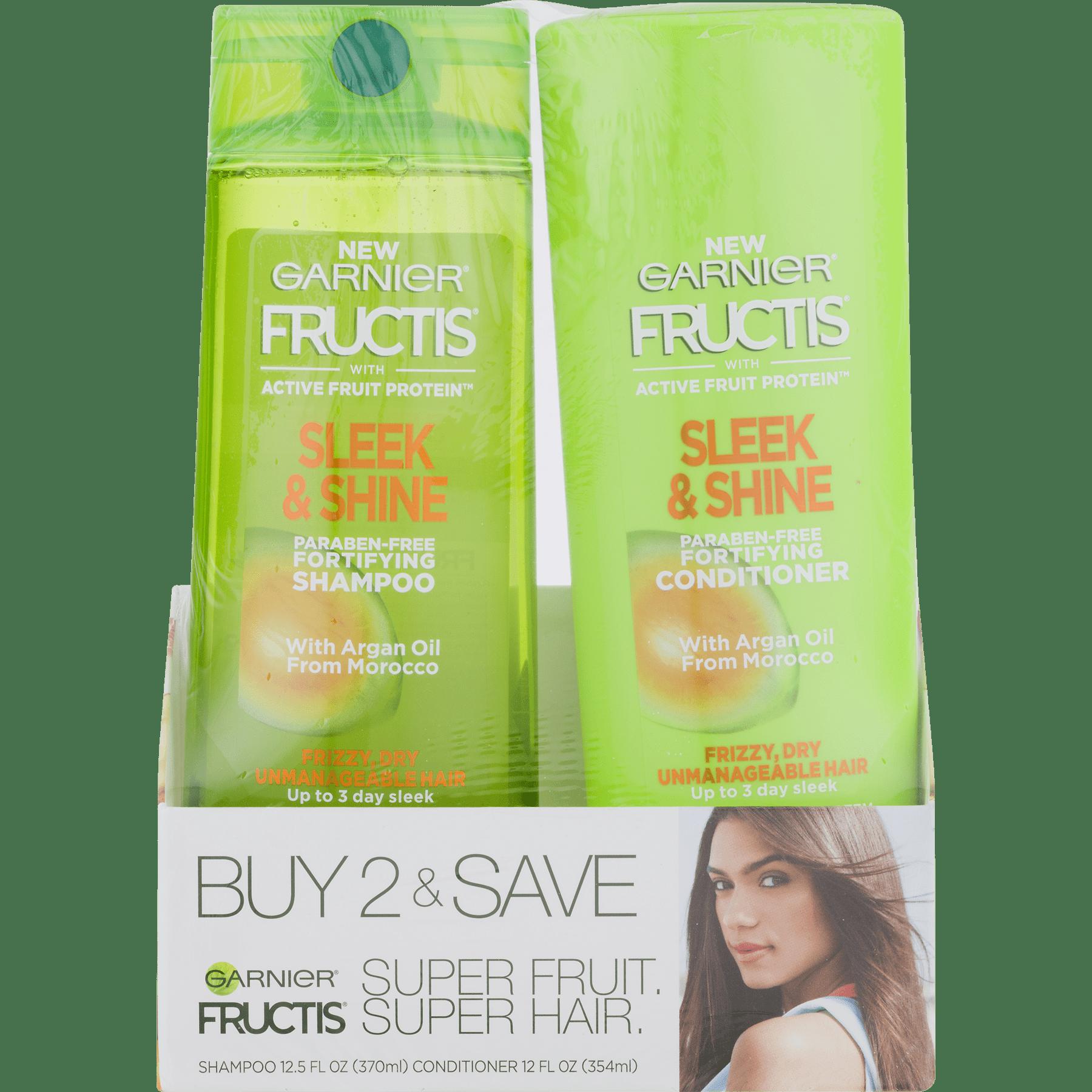 Garnier Fructis Sleek & Shine Everyday, Shampoo & Conditioner