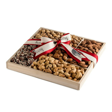 The Nuttery Deluxe Roasted Salted and Sweet Nuts Classic Gift Basket (Nut Gift Baskets For Men)