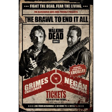 The Walking Dead - TV Show Poster / Print (Grimes Vs. Negan - Promo Ad) (Size: 24