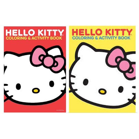 Coloring Book - Hello Kitty - Bundle of 2 - Red/Yellow (Halloween Hello Kitty Coloring Pages Printable)
