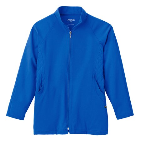 Quilted Zip Front Jacket - Classic Fit Collection by Jockey Women's Quilted Zip Front Warm Up Solid Scrub Jacket