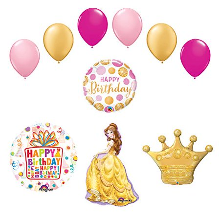 Beauty and The Beast Belle Crown Princess Balloon Birthday Party Supplies and... - Princess Crown Balloon