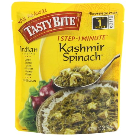 Tasty Bite Kashmir Spinach Heat & Eat Entree, 10 Ounce Pouches - Halloween Food Entrees