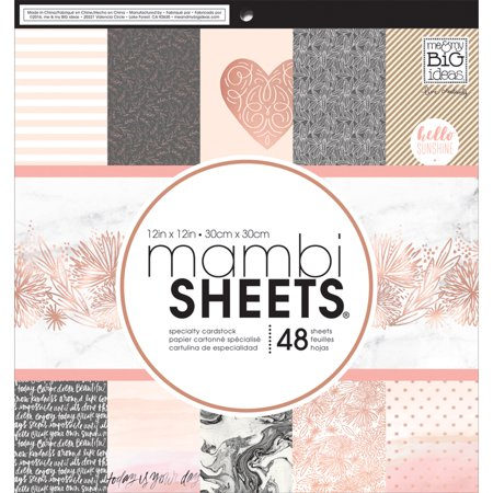 "Mambi Single-Sided Paper Pad 12""X12"" 48/Pkg Rose Gold"