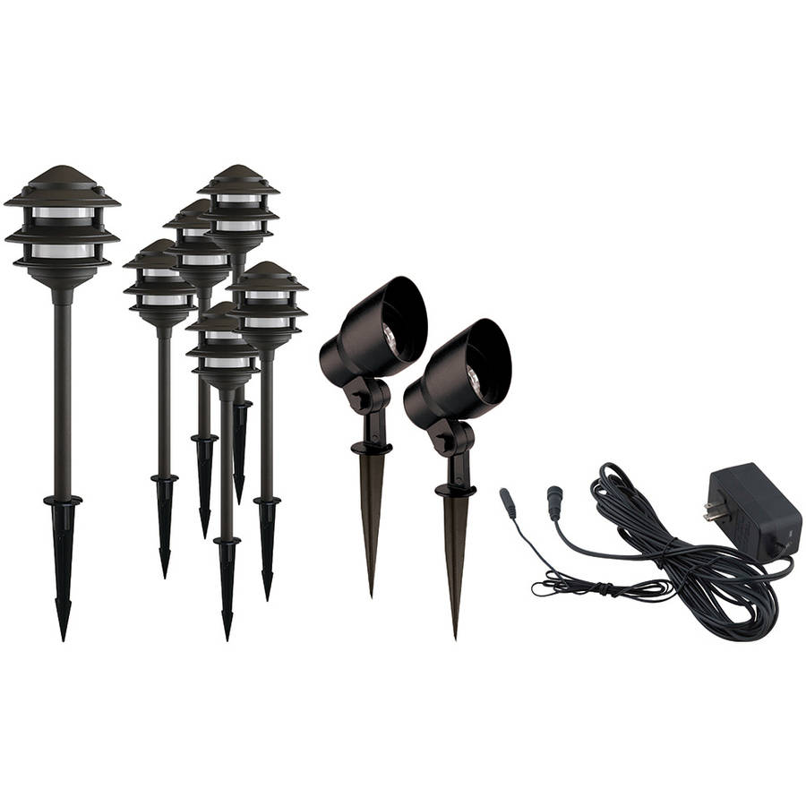 Better Homes and Gardens Fayser 8 Piece Outdoor Quickfit LED Pathway Lighting Set