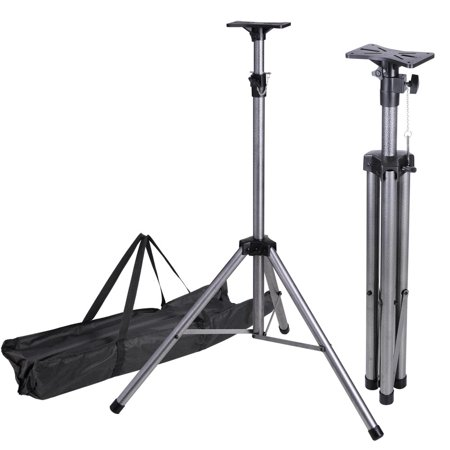 76″ Adjustable DJ Stage Light Tripod Support Universal Pair PA Speaker Stand w/ Bag 132Lbs Weight Capacity