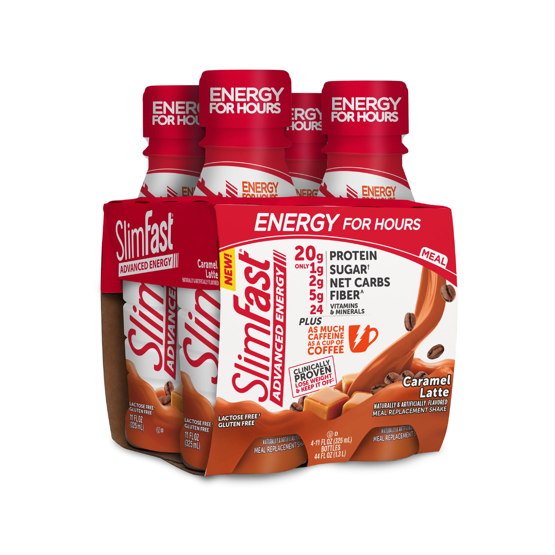 SlimFast Advanced Energy Caramel Latte 4pk
