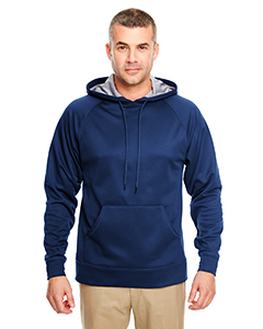 Navy UltraClub 8441 UC Poly Fleece Hood 2XL