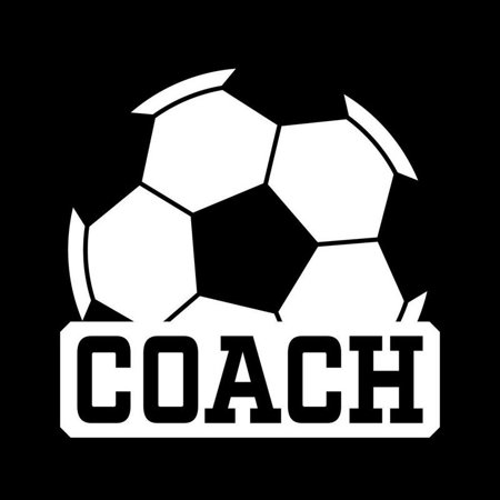 Soccer Coach Vinyl Decal Sticker | Cars Trucks Vans Windows Walls Cups Laptops | White | 5 X 4.8 Inches | (Soccer Window Decal)