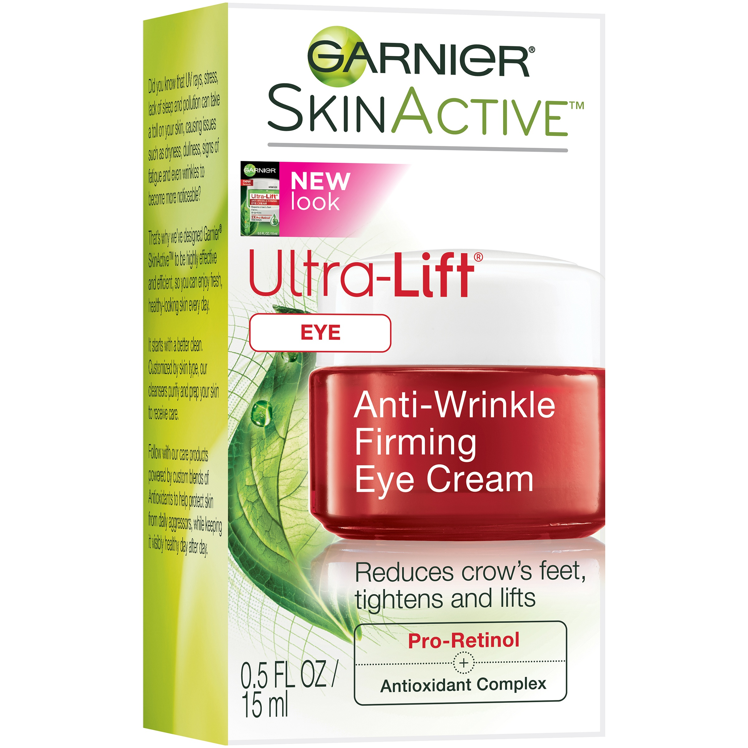 Garnier SkinActive Ultra-Lift Anti-Wrinkle Firming Eye Cream 0.5 fl. oz. Box