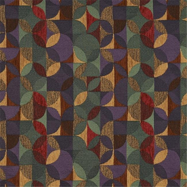Designer Fabrics F513 54 in. Wide Purple, Green And Red, Geometric Chenille Upholstery Fabric