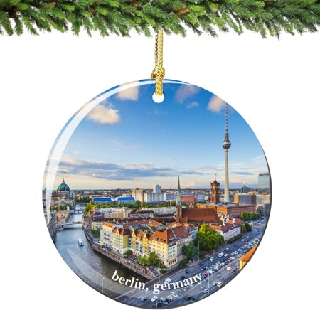 Berlin Germany Christmas Ornament Porcelain (Best German Cities For Christmas)