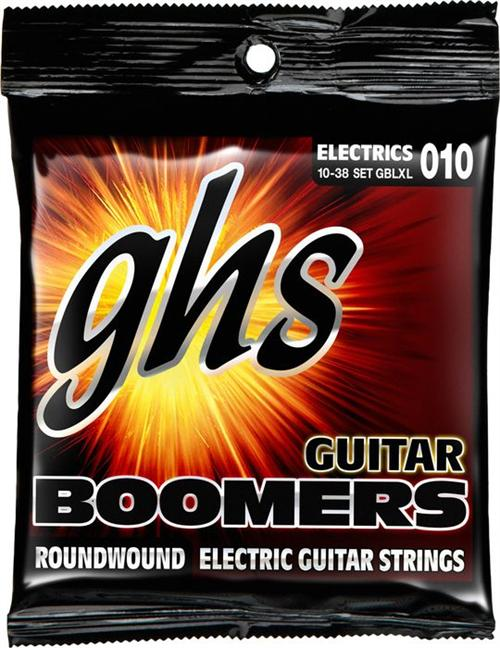 GHS GBLXL010 10-38 Boomer Electric Guitar Strings by GHS